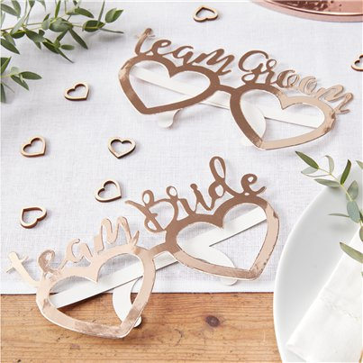 Beautiful Botanics Team Bride & Groom Glasses