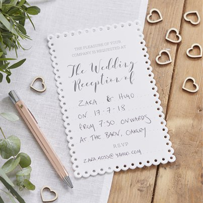 Beautiful Botanics Wedding Reception Invites
