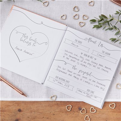Beautiful Botanics Rose Gold Foiled Wedding Planner - 21cm