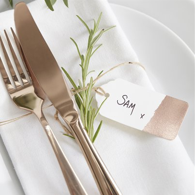 Beautiful Botanics Rose Gold Foiled Tags