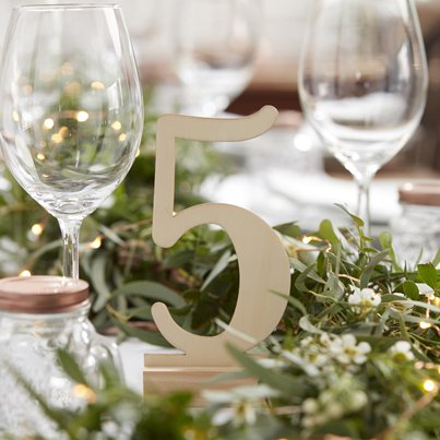 Beautiful Botanics Wooden Table Numbers