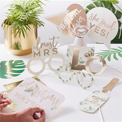 Botanical Hen Party Photobooth Props