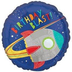 "Blast Off Birthday Balloon - 18"" Foil"