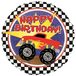 "Holographic Monster Truck Birthday Balloon - 18"" Foil"