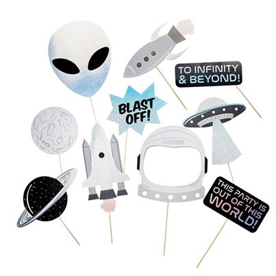Space Party Photo Props