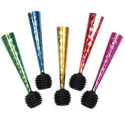Multicoloured Foil Party Air Horns - Party Blowers