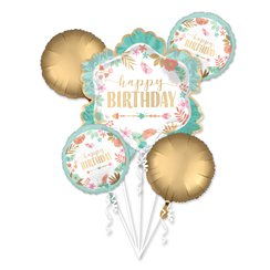 Boho Birthday Girl Balloon Bouquet - Assorted Foil