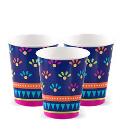 Boho Fiesta Paper Cups - 256ml
