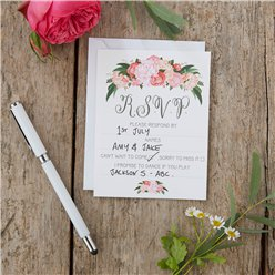 Boho Wedding RSVP Cards