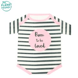 Born To Be Loved Pink Shaped Paper Napkins