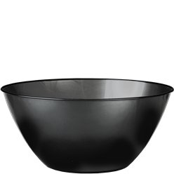 Black Plastic Serving Bowl - 4.7L