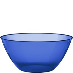 Royal Blue Plastic Serving Bowl - 4.7L