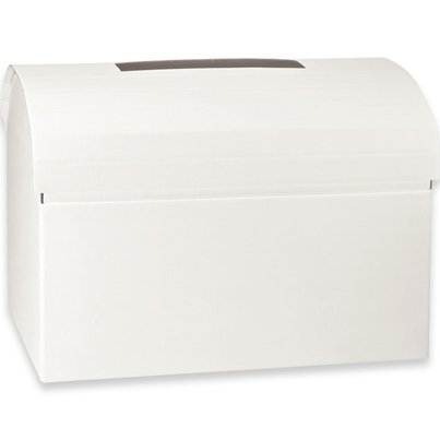 White Silk Chest Wedding Post Box