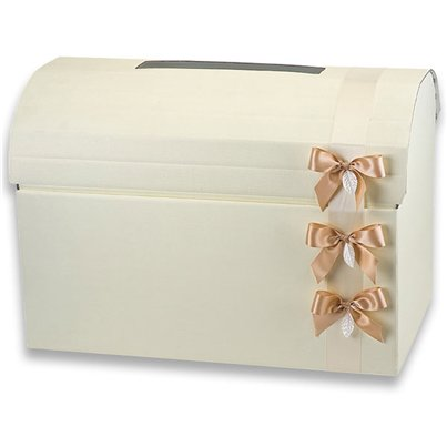 Ivory Chest Wedding Post Box