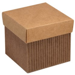 Corrugated Square Favour Box With Lid - 5cm