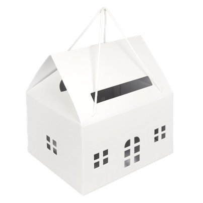 Warm White House Post Box - 33.5cm