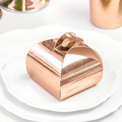 Rose Gold Favour Boxes