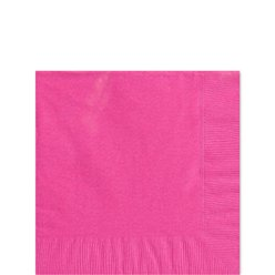 Hot Pink Beverage Napkins - 25cm Square 2ply Paper