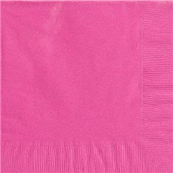 Hot Pink Dinner Napkins - 40cm Square 2ply Paper