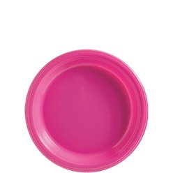 Hot Pink Plates - 18cm Plastic Party Plates