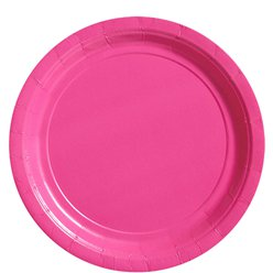 Hot Pink Plates - 23cm Paper