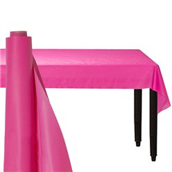 Hot Pink Plastic Banqueting Roll - 30m