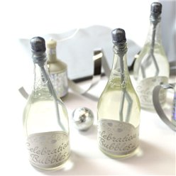 Champagne Wedding Bubbles - Silver