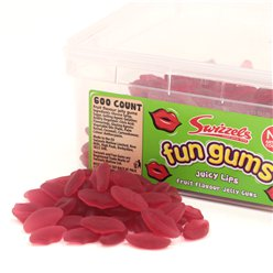 Fun Gums Juicy Lips Tub