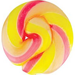 Yellow & Pink Mini Swirl Ice Cream Flavour Lollipops - 50pk