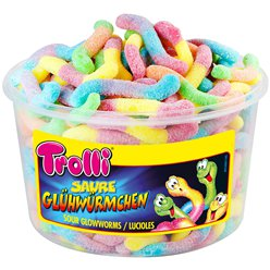 Trolli Sour Glowworms Tub