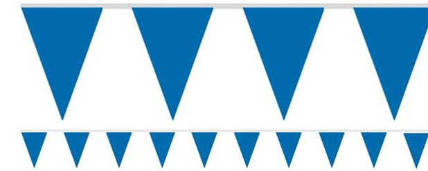 Royal Blue Paper Bunting - 4.5m