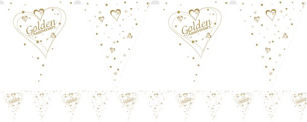 Golden Anniversary Flag Bunting - 3.66m