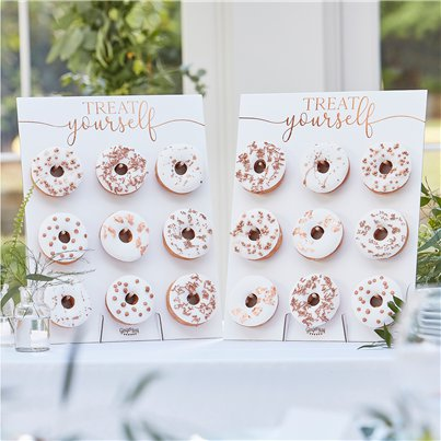 Botanical Wedding Copper Foiled Doughnut Walls