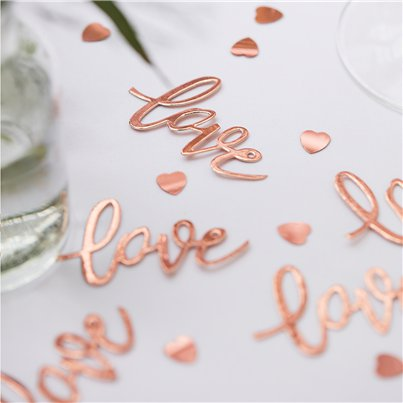 Botanical Wedding Copper Love Confetti - 13g