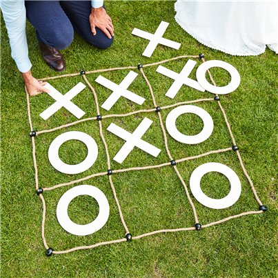 Botanical Wedding Giant Noughts & Crosses Game