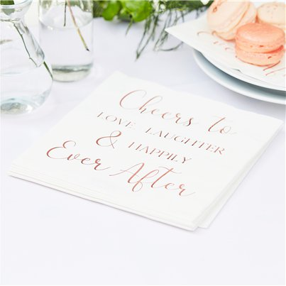 Botanical Wedding Paper Napkins - 33cm