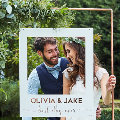 Botanical Wedding Customisable Giant Polaroid Frame - 72cm