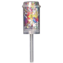 Foil Confetti Push Popper - Multicoloured