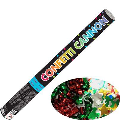 Multi Coloured Foil Confetti Cannon - 58cm