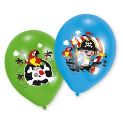 "Captain Pirate Balloons in Assorted Colours - 11"" Latex"