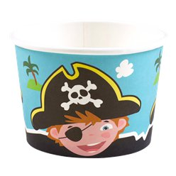 Captain Pirate Ice Cream Tubs