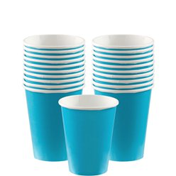 Turquoise Cups - 266ml Paper
