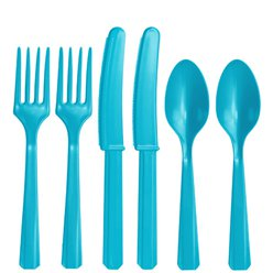 Turquoise Reusable Cutlery - Assorted 24pk
