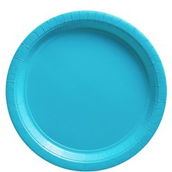 Turquoise Plates - 23cm Paper