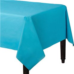 Turquoise Plastic Tablecover - 1.4m x 2.8m