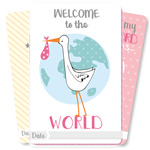 Baby Girl Moment Cards