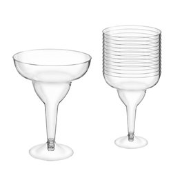 Clear Plastic Margarita Glasses - 295ml