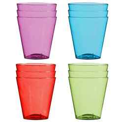 Multi-coloured Plastic Shot Glasses - 57ml