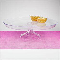Clear Plastic Dessert Stand - 30cm