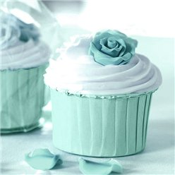 Aqua Blue Baking Cups